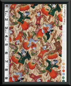 FABRIC-FALL-HARVEST-Holiday-BY-ROBERT-KAUFMAN-CO-100-COTTON-Quilt-By-1-2-YD