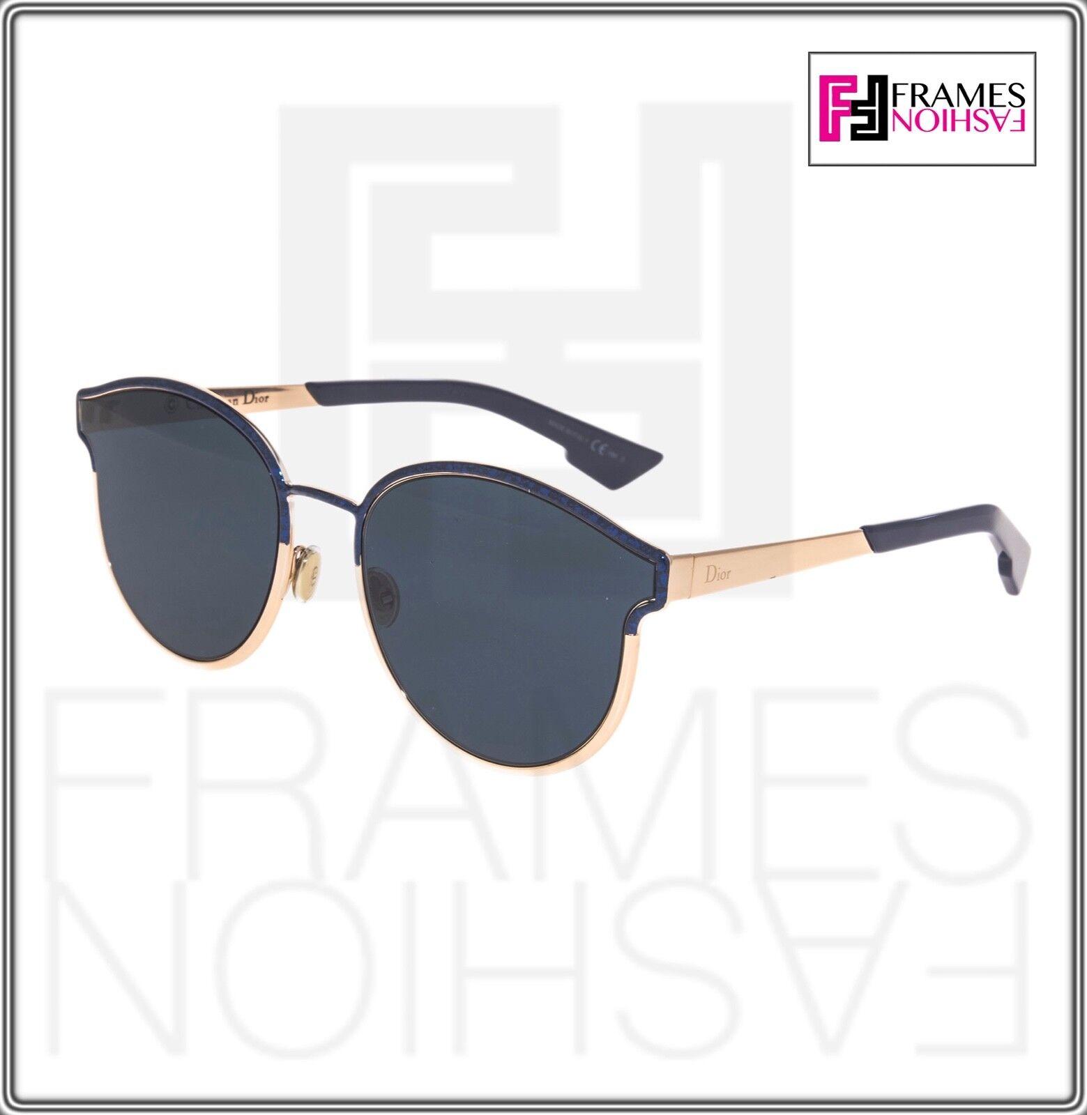 5997873f67 Christian Dior Symmetric Rose Gold Marble Blue Mirrored Sunglasses  Diorsymmetric for sale online
