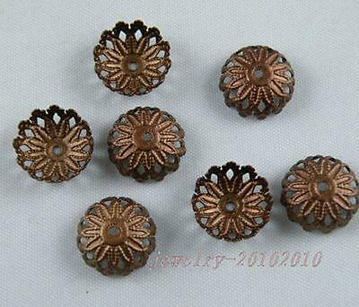 Approx 180-250pcs Iron Normal Filigree Flower Bead Caps 6mm Jewelry Findings