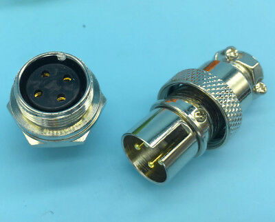 2Pair Male Female Panel Connector GX16-8pin Aviation Plug Connectosr Sockets