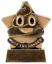 GW Personalised Mini Star Must Try Harder Pooh Emoji Trophy Gravé Gratuit
