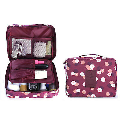 HOMPO Travel Cosmetic Makeup Toiletry Bag Wash Organizer Storage Pouch Handbag