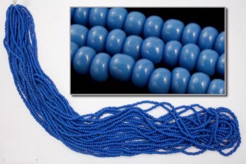 #CSF063 10//0 Opaque Peacock Blue Czech Seed Bead 10 Gm, Hank, 1//2 Kilo