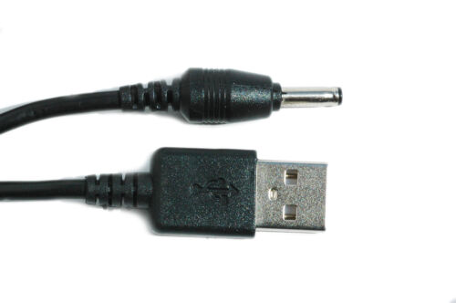 90cm USB Black Charger Power Cable Adaptor for Levana Lila Camera Baby Monitor