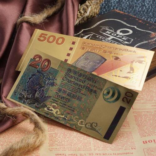 6 Pcs Set Standard Chartered Bank Hong Kong Commemorative Gold Banknotes