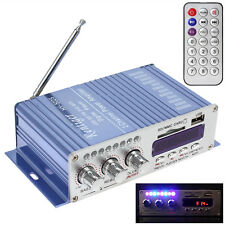 USB SD DVD FM 2x20W HiFi Audio Stereo Radio MP3 Speaker Car Bluetooth Amplifier