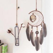Traumfänger Dreamcatcher Handgemacht Eule Groß Federn Baumwolle Geschenk