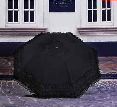 New Lace Lacework Floding Pagoda Umbrella Sun Rain Anti UV For Wedding Travel