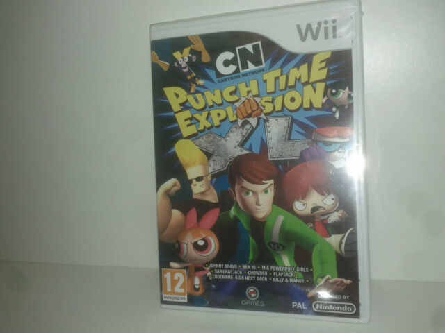 NEUF Cartoon network PUNCH TIME explosion XL - Nintendo WII compatible WII U PAL