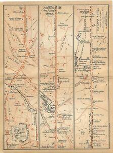 Cartina Antica Roma.Roma Via Appia Antica Mappa Touring Club 1925 Carta Geografica Ebay