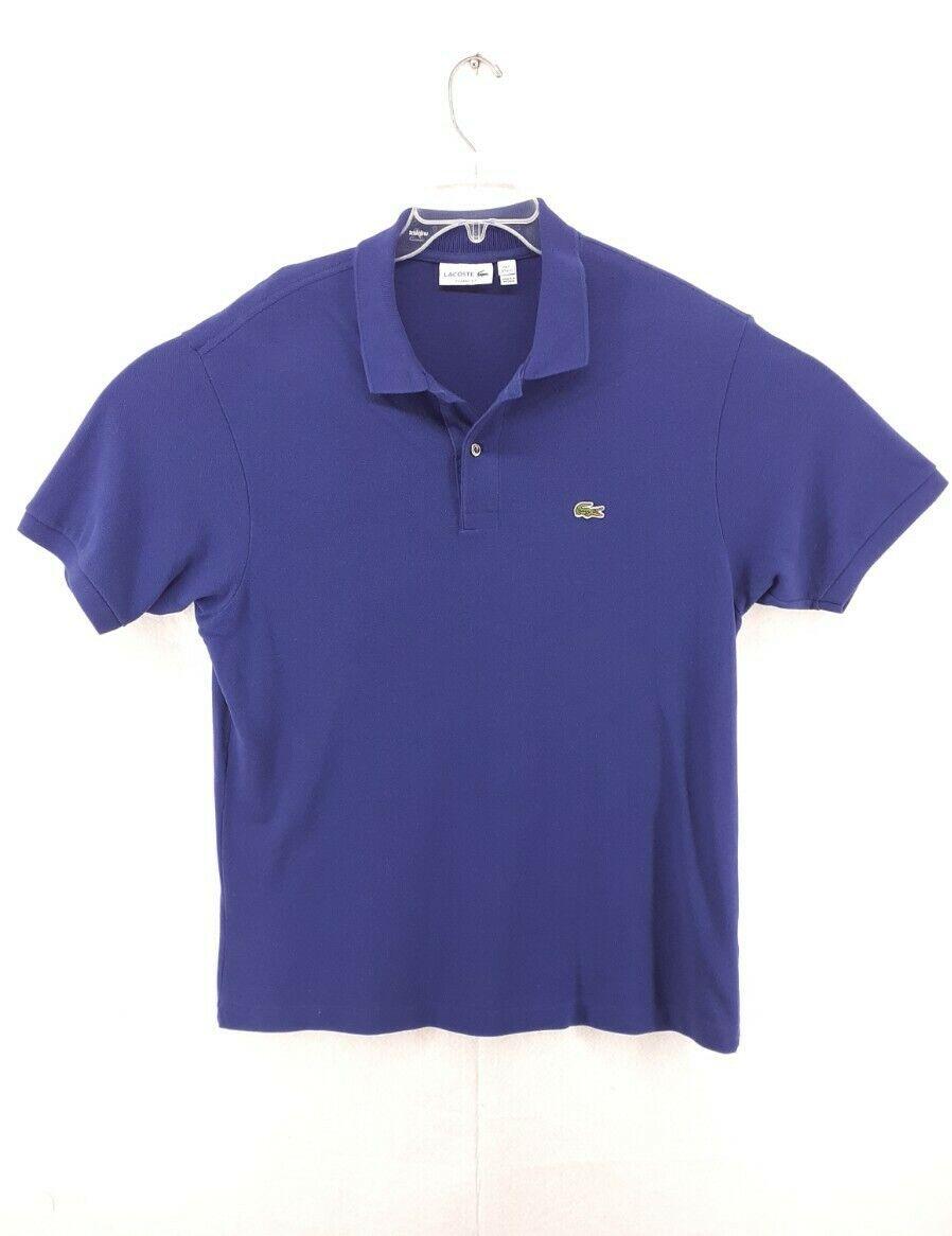 Lacoste classic fit polo shirt men size 7 2xl blue s… - Gem