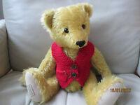Teddy Clothes - Hand Knitted Waistcoat With Pocket Watch To Fit 13-15 Bear