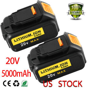 DCB205-For-Dewalt-20v-5-0Ah-Replacement-MAX-XR-Lithium-Ion-Battery-DCB203-2-pack