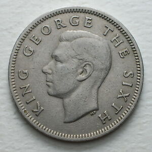 1951-New-Zealand-One-Silver-Florin-George-VI