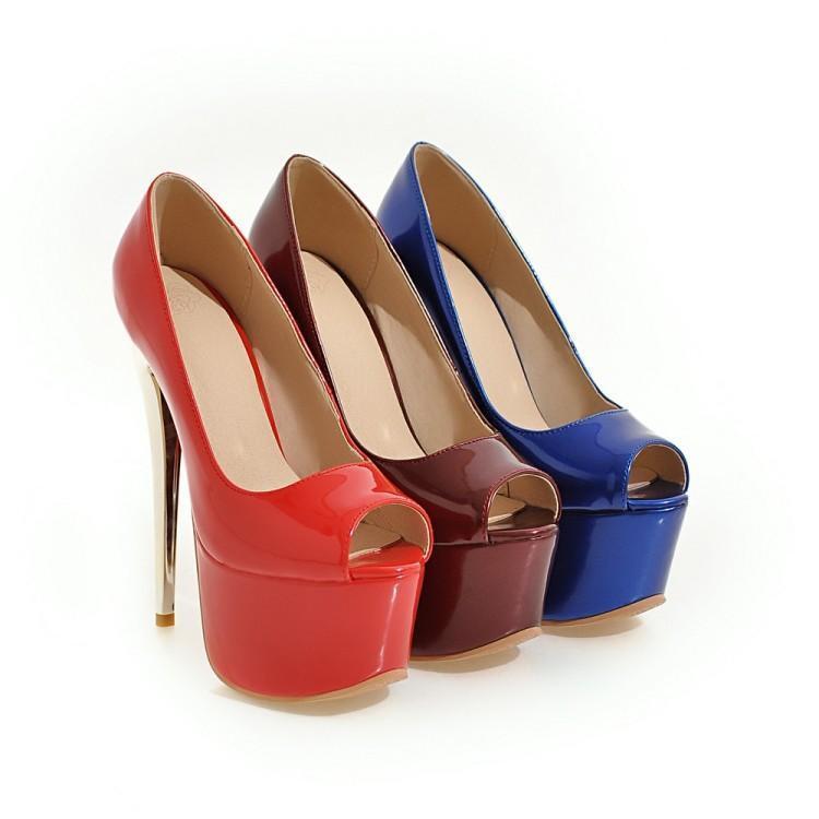 Womens Stiletto High heels Open toe Platform Pumps Party Sandals shoes Plus Size