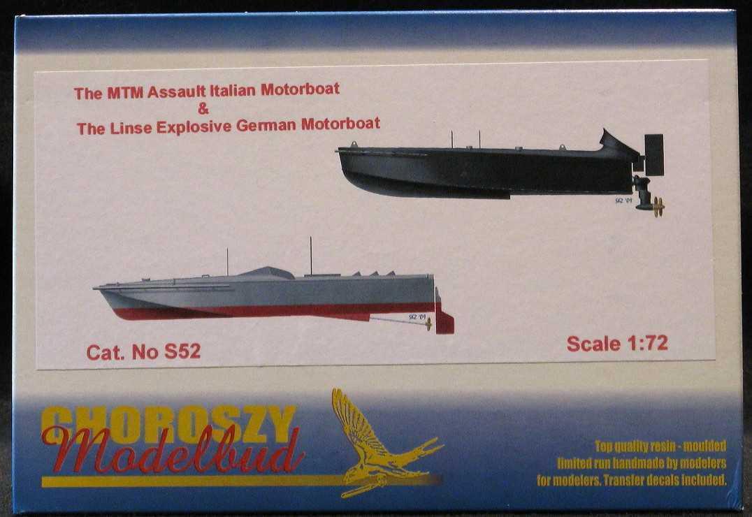 Chgoldszy Models 1 72 EXPLOSIVE BOATS German LINSE & Italian MTM 2 Boat Set