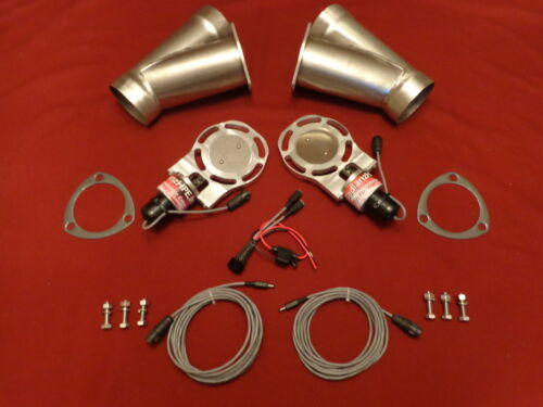 "Electric Exhaust Cutout BadlanzHPE Cutouts 3.5/"" 89mm SS  5 YEAR WARRANTY!"