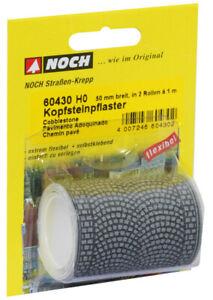 60430-Noch-HO-Kopfsteinpflaster-100x5-cm-aufgeteilt-in-2-Rollen-Modell-Eisen