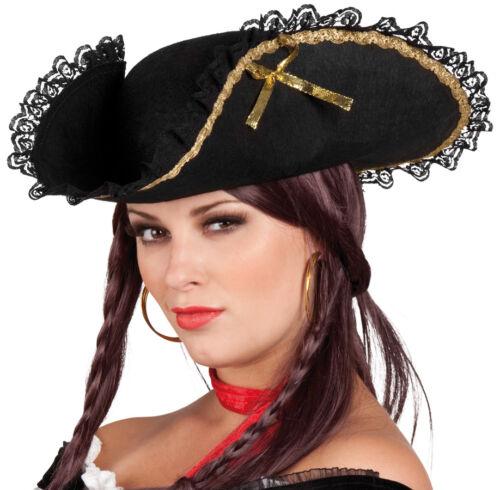 Pirata con punte federale per donna NUOVO-CARNEVALE CAPPELLO BERRETTO kopfbedec