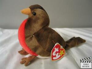 937f84bfda3 Image is loading Early-Robin-Beanie-Babies-Ty-NEW-Retired-Brown-