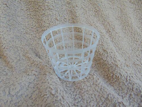 10 Clear orchid grid basket pot 8cm diameter