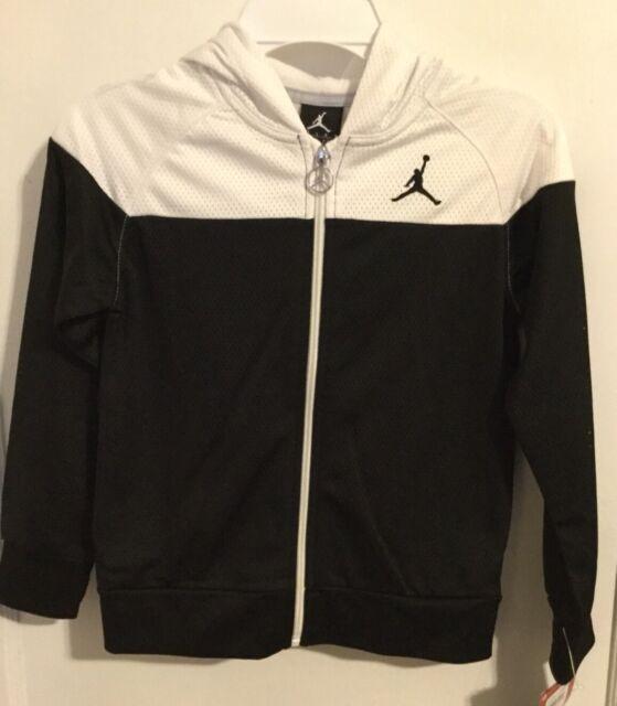 6a122518786 Air Jordan Nike Girls Youth Track Jacket Black White Size 6x & 6 Kids  353273 098 for sale online   eBay