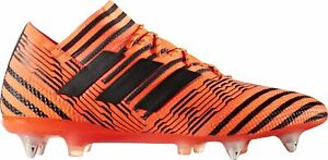 Adidas nemeziz 17.1 Homme Chaussures De Football Orange Soft Ground Football Tailles UK 6-9