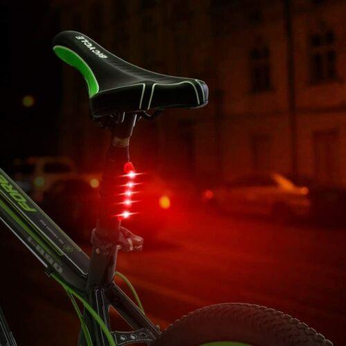 """Vélo Feu Arrière /""""Tricolor/"""" arrière rouge vélo DEL UK nouveau Flash USB étanche"""