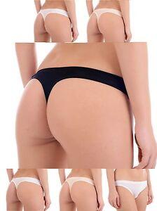 100-BIO-BAMBOU-Wear-Femmes-Mesdames-String-Thongs-Breve-couture-gratuit-sous-vetements