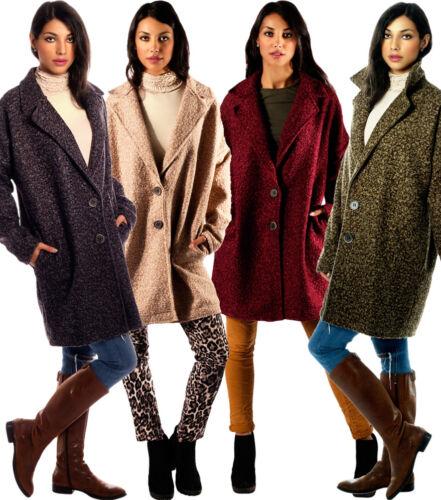 Mantel Reverskragen Knöpfung Oversized Style Einheitsgröße 36-40