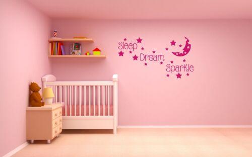 Soñar Estrellas Dormir Brillante Dormitorio Pared Arte Calcomanía Vinilo Sticker Luna
