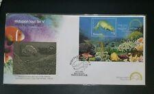 Pewter fdc 2001 marine life series  pewter stamp  fdc