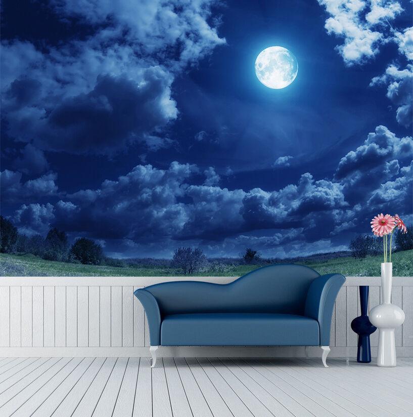 3D Full Moon Sky 354 Wall Paper Wall Print Decal Wall Deco Indoor AJ Wall Paper