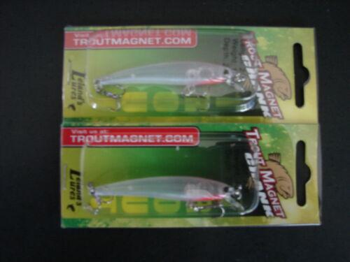 """2 Trout  Magnet Crank 2/"""" Hawk Trout Lure 1//8 oz TMC2.5 Hawk Leland/'s Lures"""