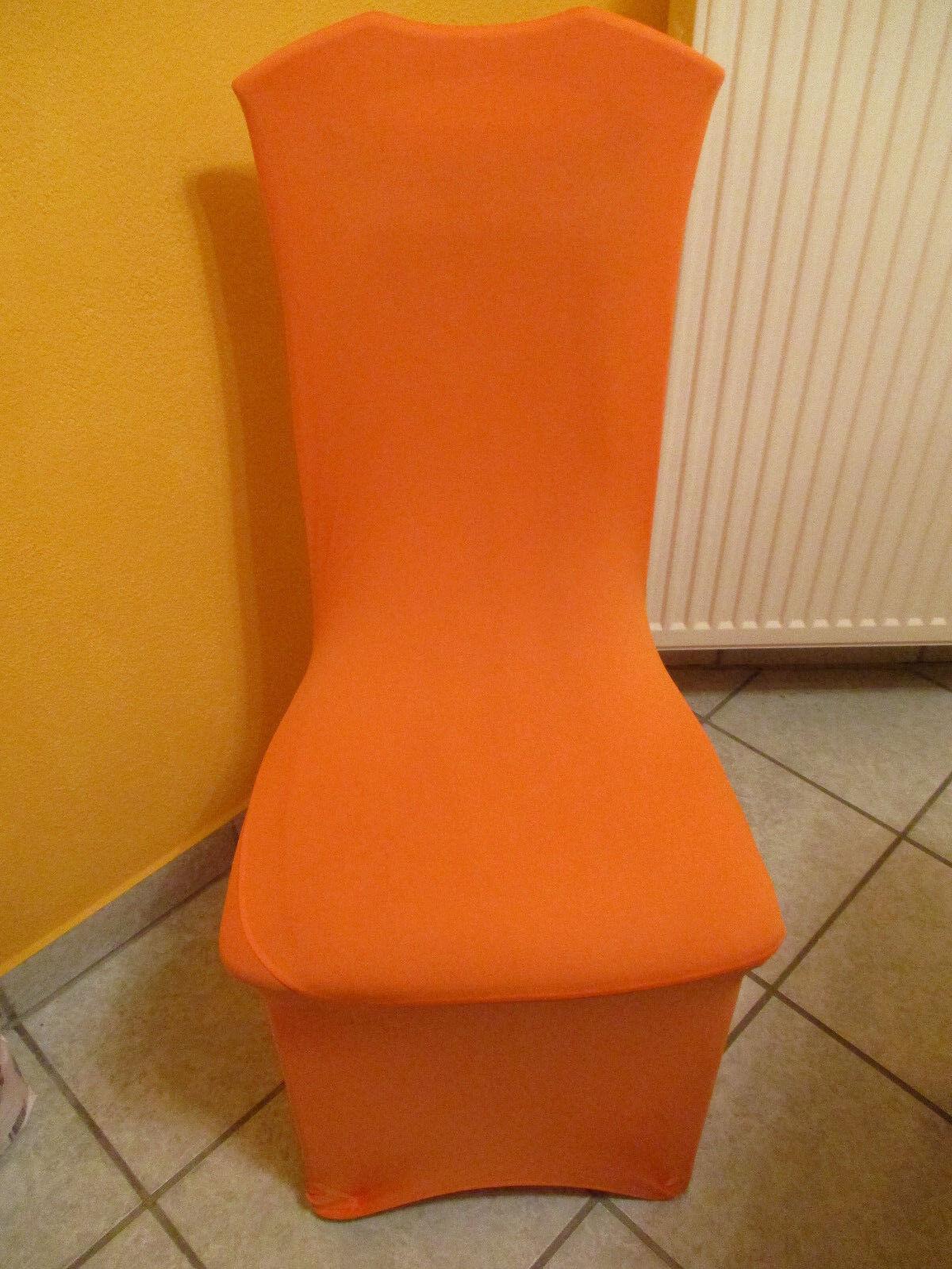 20 x Stuhlhussen Stretch in Orange Hochzeit Feier Party Deko | Vielfältiges neues Design  | Sehr gute Farbe