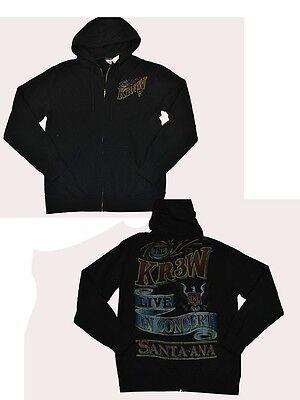 Kr3w SIMMONS Purple Grey Crackle Screenprint Zip Up Sweatshirt Men/'s Hoodie