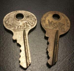 Image Is Loading 2 Vintage Master Lock Padlock Keys Lion