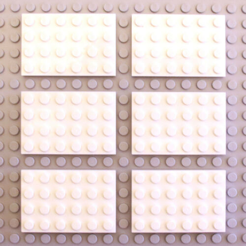 3032 303201 NEW Lego 6x White 4x6 Plate Thin Studded Tile Brick Part