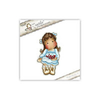 Magnolia Cling Rubber Stamp Tilda With Christmas Hearts,