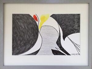 Joan-GARDY-ARTIGAS-1937-Composition-C1990-Technique-mixte-21x32-SBD-Cadre
