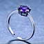 1-6ct-Round-Cut-Purple-Amethyst-Engagement-Ring-14k-White-Gold-Finish-Solitaire thumbnail 2