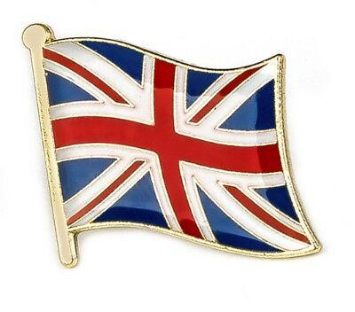 UK BRITISH FLAG UNION JACK HQ GLOSS ENAMEL PIN LAPEL BADGE GREAT