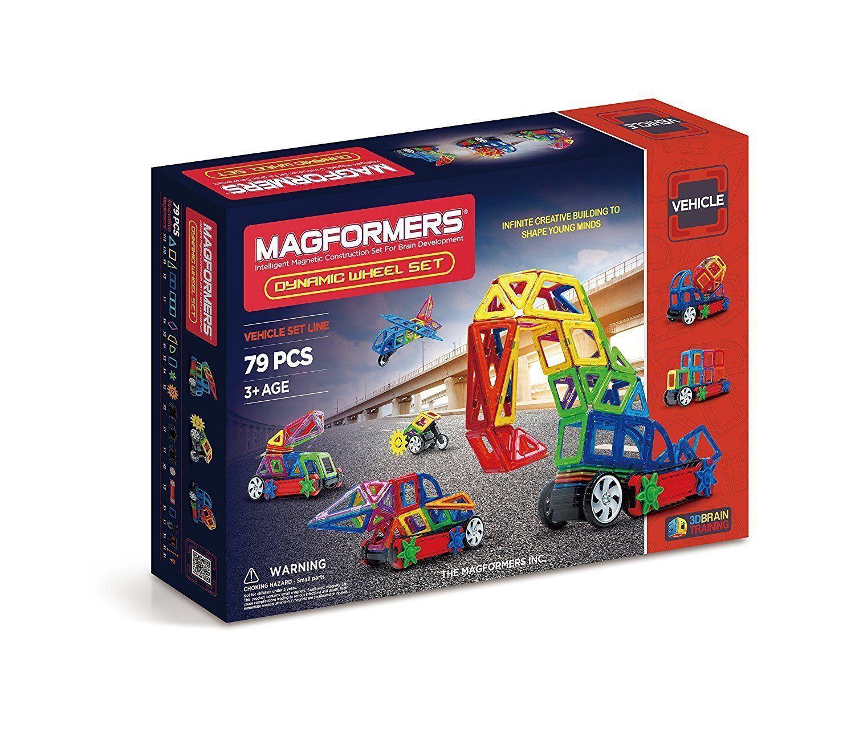 Magformers Dynamic Wheel Set 79 piece Hi Tech Line
