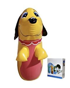 Details About Dog Inflatable Punching Bag Toy 3d Bop Up Kids Fun Best Gift For