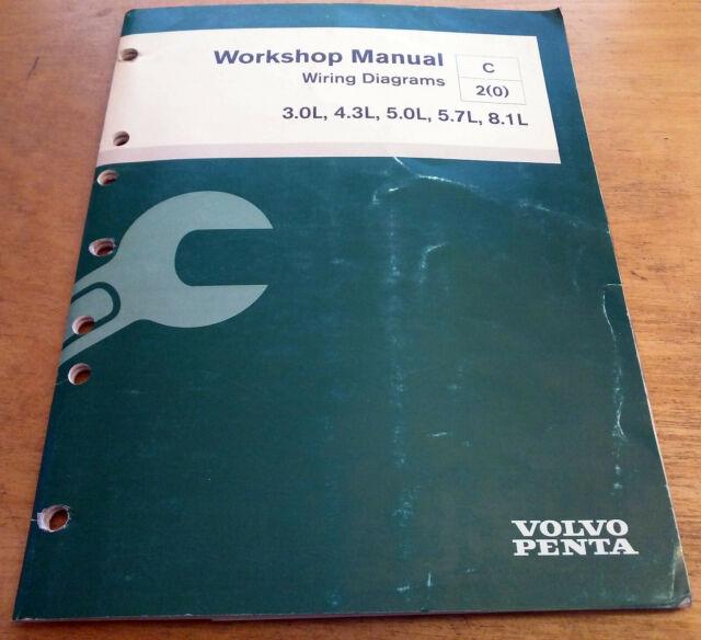 Volvo Penta 3 0l 4 3l 5 0l 5 7l 8 1l Stern Drive Wiring Manual Guide