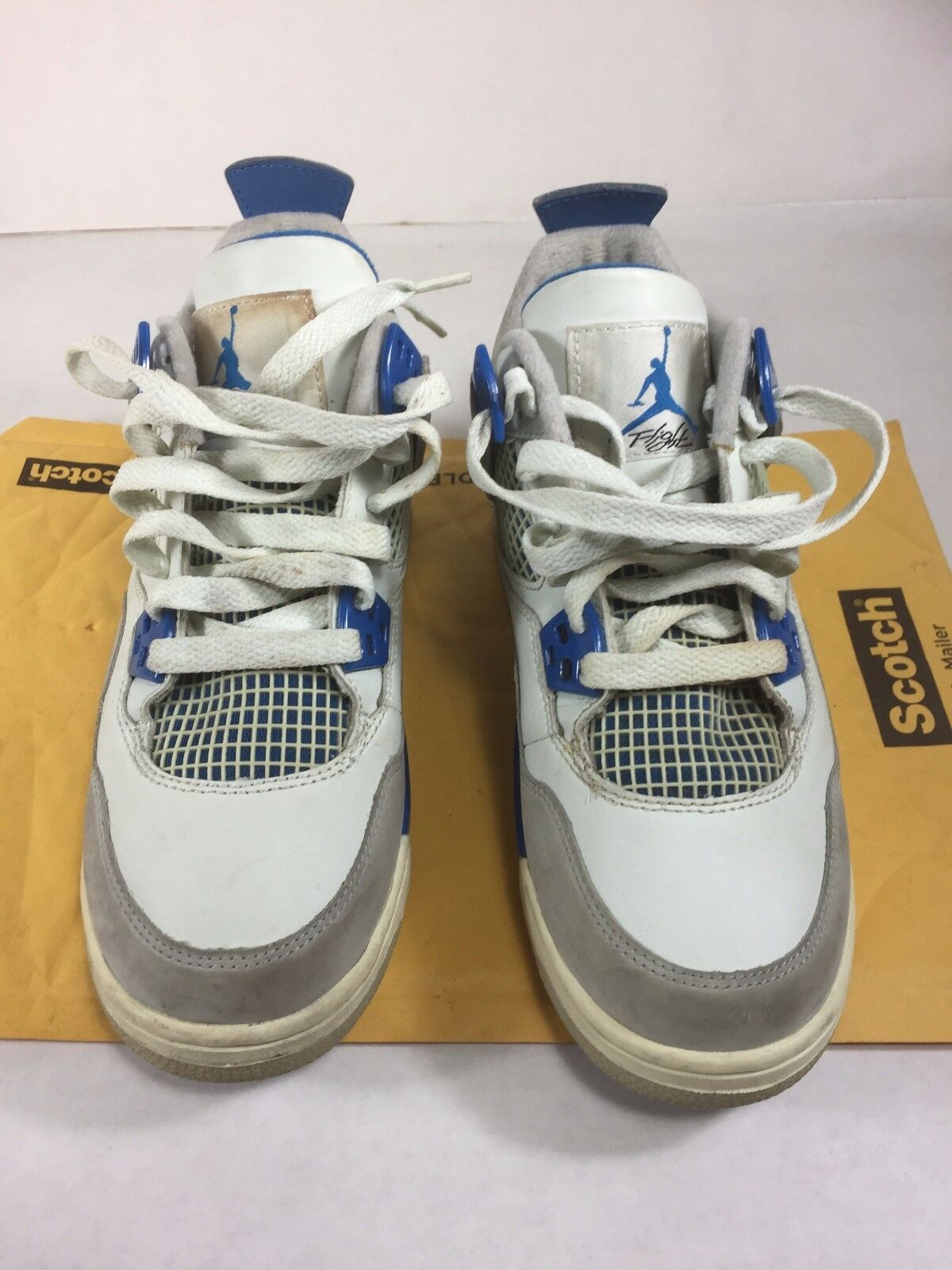 Air Jordan Retro IV 4 Military Blue White Neutral Grey Comfortable Seasonal clearance sale
