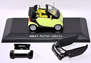Smart Fortwo Cabrio 2003-07 Facelift A450 Stream Vert Noir De Jais Bodyp. 1:43