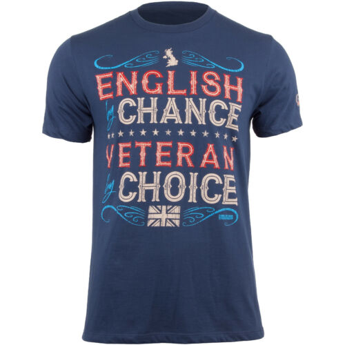 7.62 DESIGN VETERAN BY CHOICE ENGLISH MENS T-SHIRT UK MARINES GRAPHIC TOP BLUE
