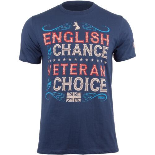 7.62 DESIGN VETERAN BY CHOICE ENGLISH MENS T-SHIRT UK MARINES GRAPHIC TOP BLUE