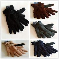 Men's Winter Glove Work Driving Gloves Grip Fleece Thermal Insulation